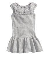 Strikket kjole grå str. 98-104
