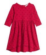 Jerseykjole rød str. 98-104