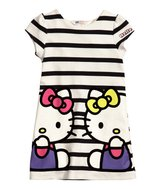 Jerseykjole naturhvid Hello Kitty str. 98-104