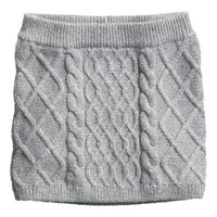 Strikket nederdel grå str. 98-104